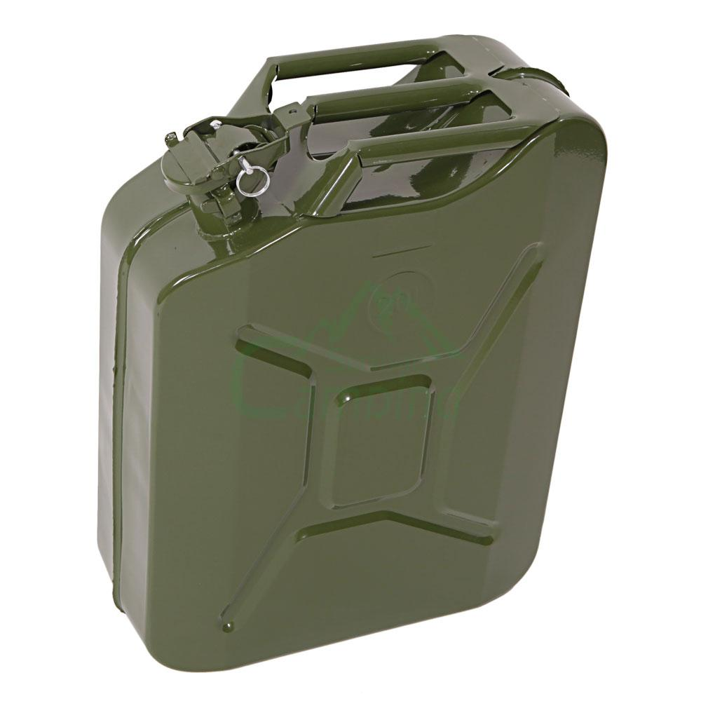 L gallon jerry can fuel gas steel backup tank w spout