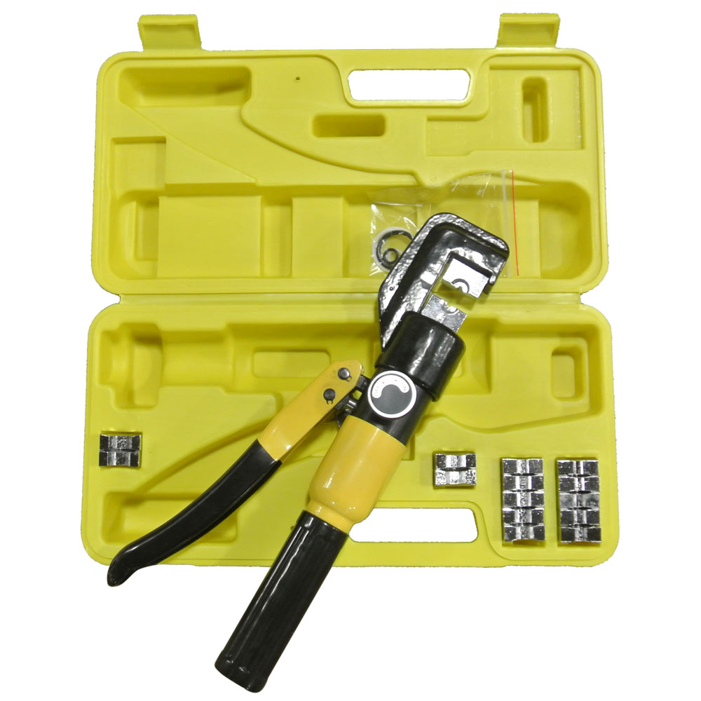10 Ton Hydraulic Wire Crimper Crimping Tool 9 Dies Cable
