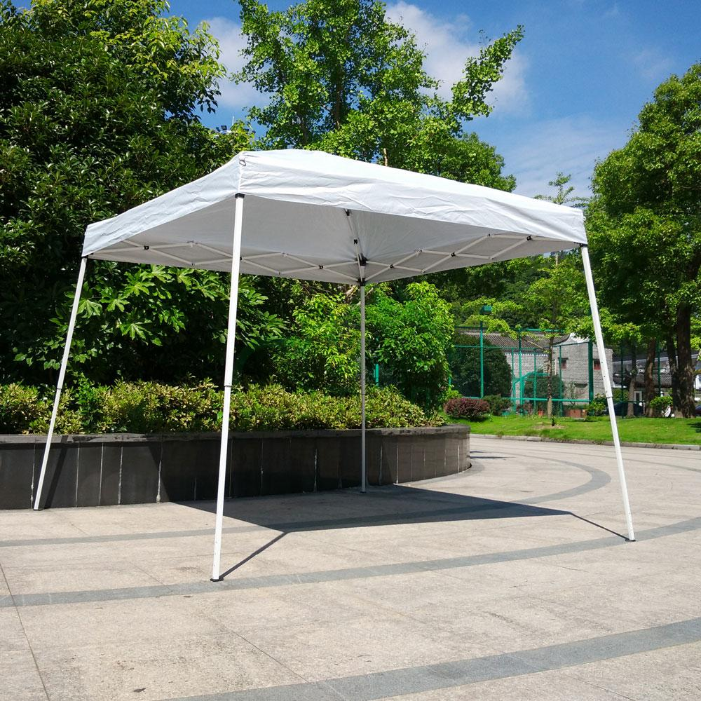 10 X10 White Pop Up Wedding Party Tent Folding Gazebo Sun
