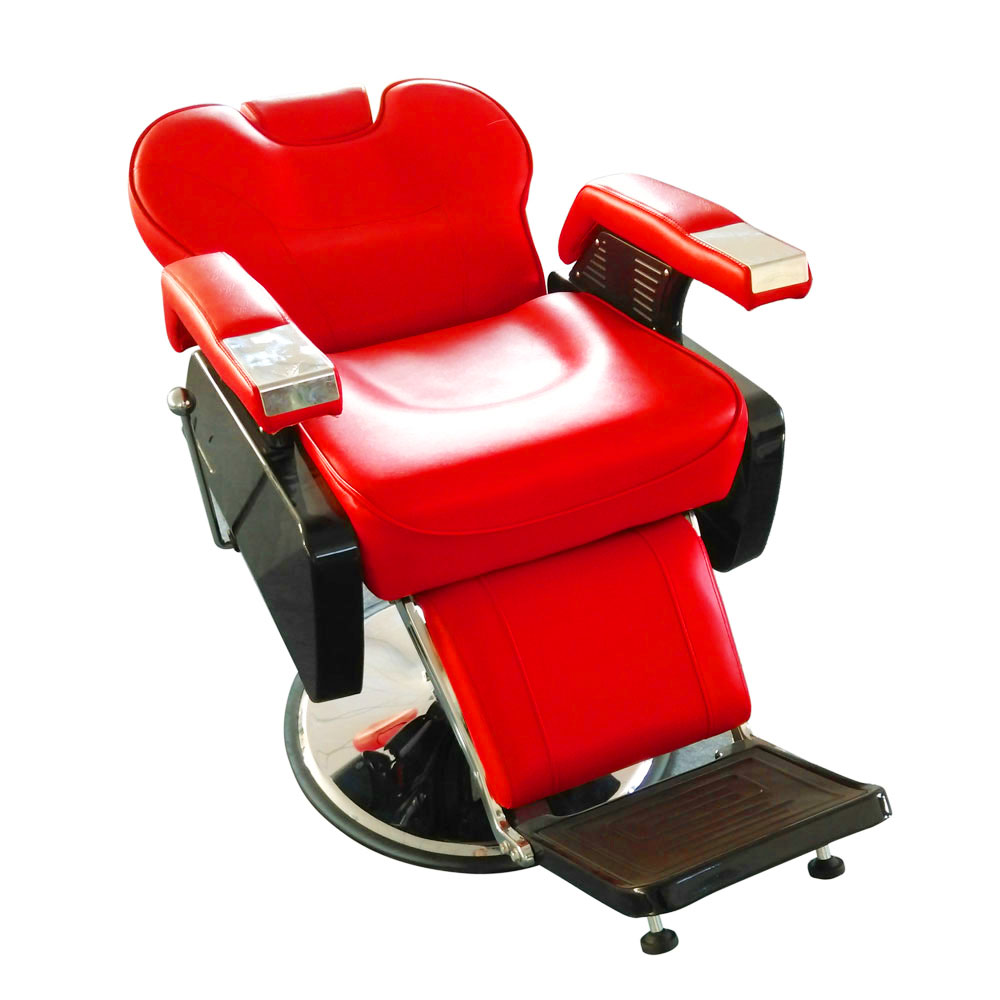 Vintage All Purpose Hydraulic Recline Barber Chairs Salon Beauty Spa  Shampoo Red