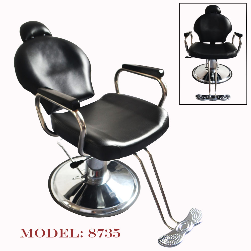Reclining Hydraulic Barber Chair Seat Hair Stylist Station