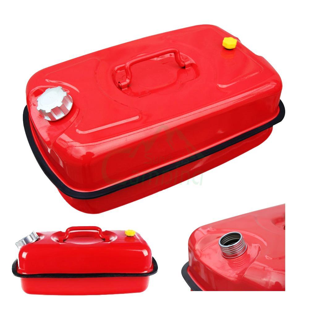 Portable Gas Tank : Red portable l gasoline can gallon oil fuel gas caddy