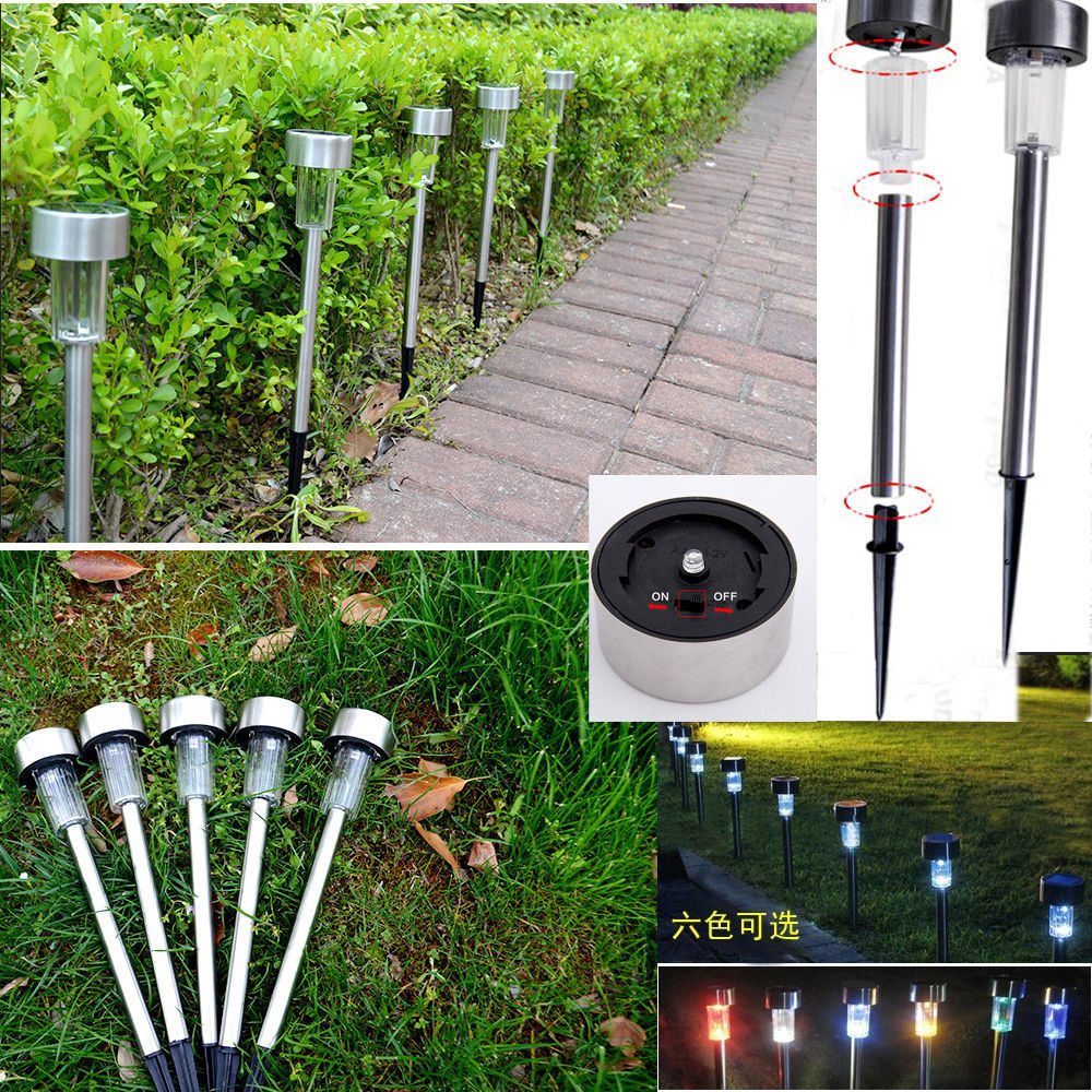 Solar Power Color Changing Led Path Lights Outdoor Garden Lawn Lamp Light Ebay