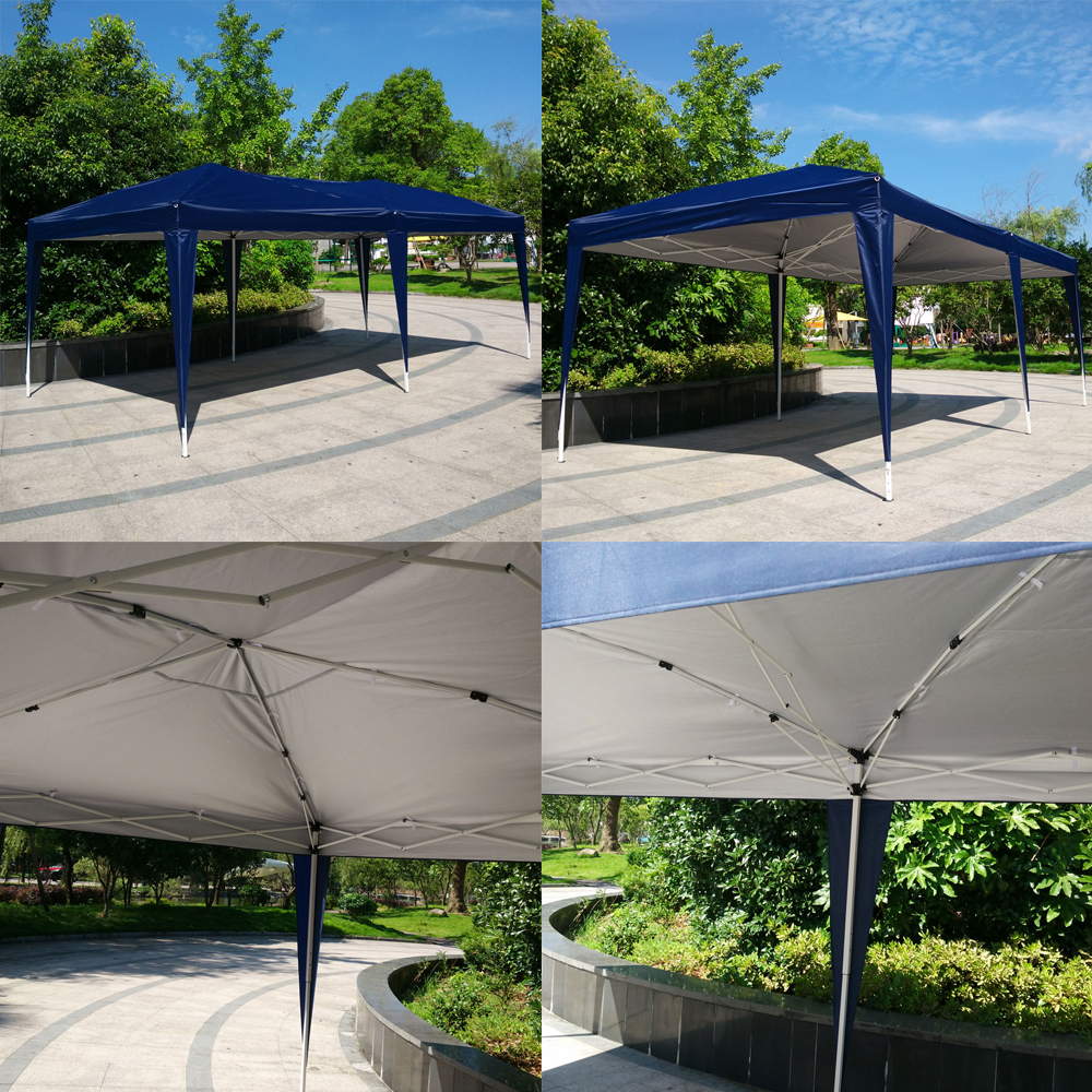 Easy pop up canopy cover gazebo wedding party tent outdoor for Gazebo plegable easy