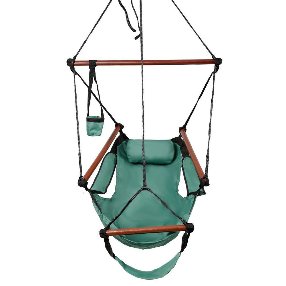Hammock hanging rope swing chair outdoor porch garden for Indoor hanging rope chair
