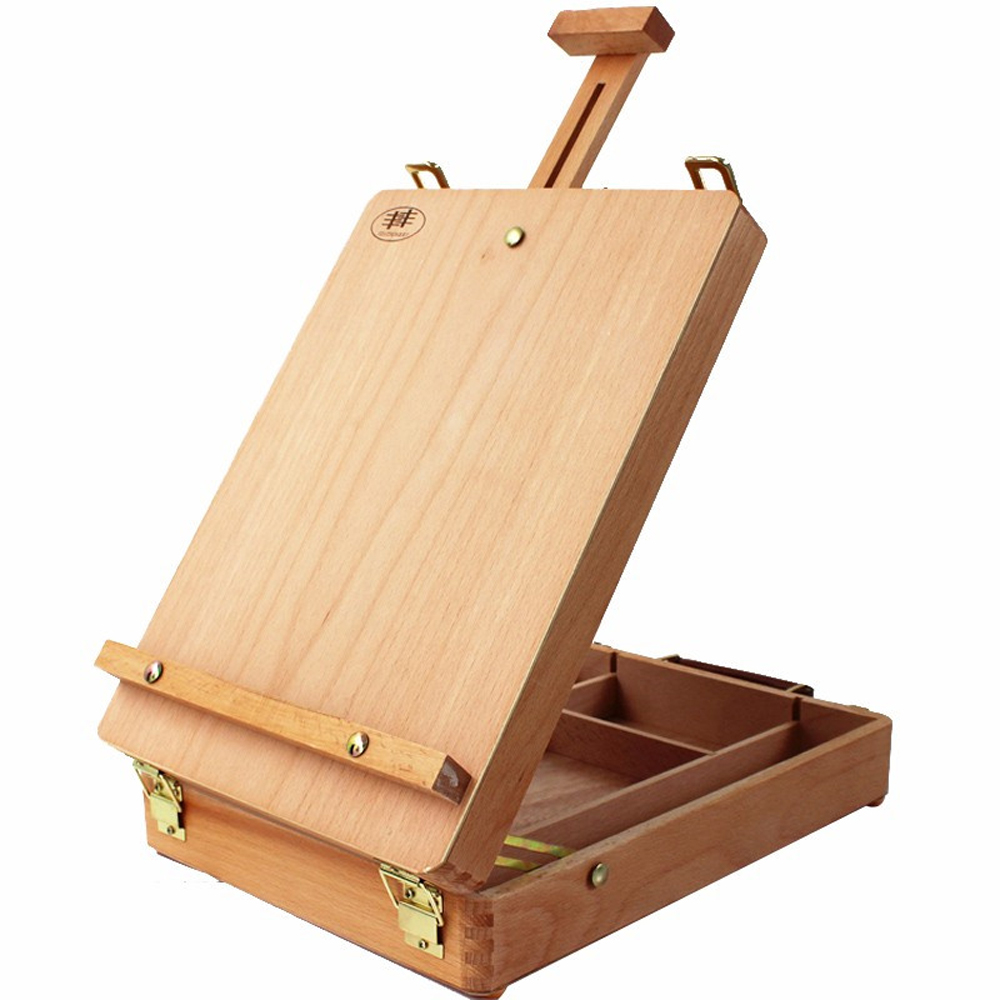Art Drawing Painting Durable Adjust Wood Table Sketch Box