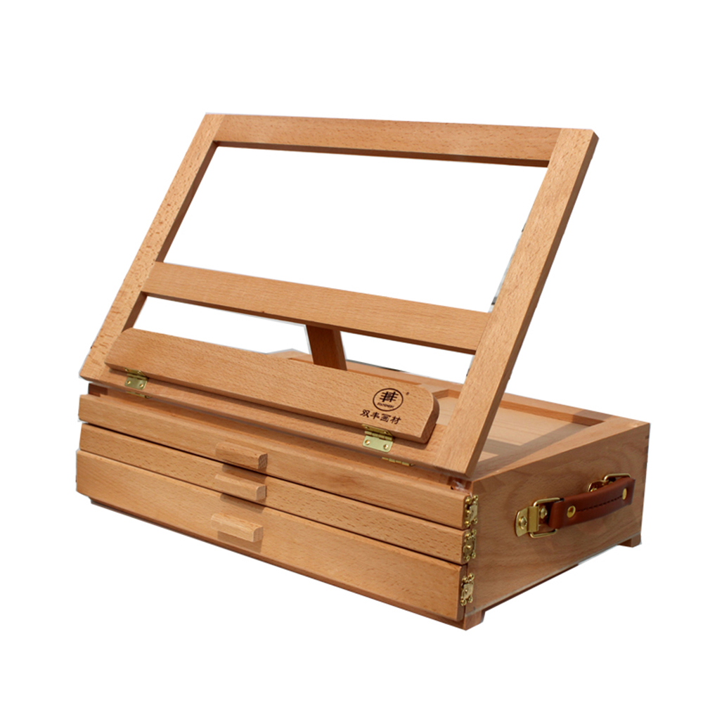 Table top drawing easel - 3 Layers Wooden Artist Table Top Drawing Easel Stand Folding Sketch Box Painting
