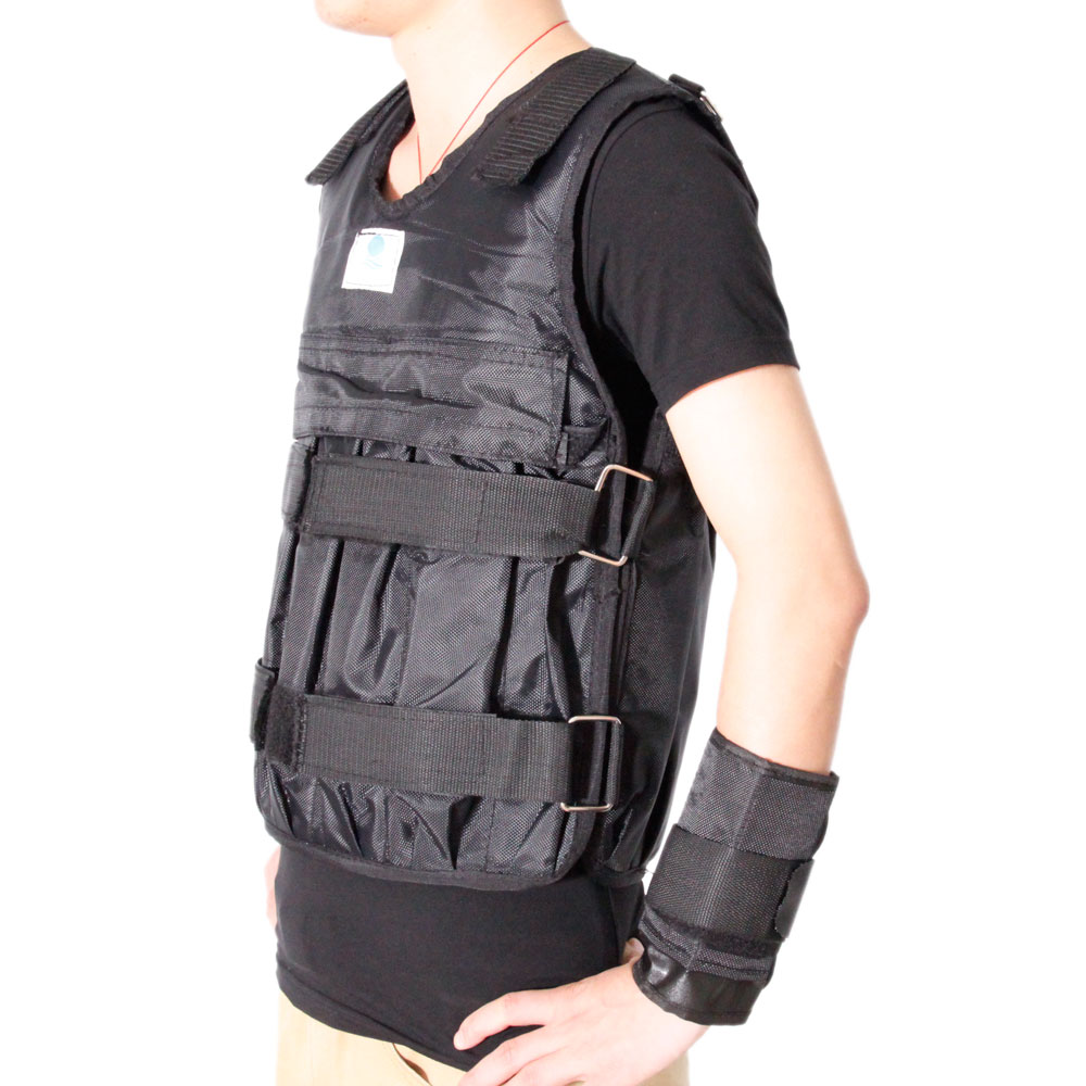 adjustable workout weight 44lb 20kg weighted vest exercise
