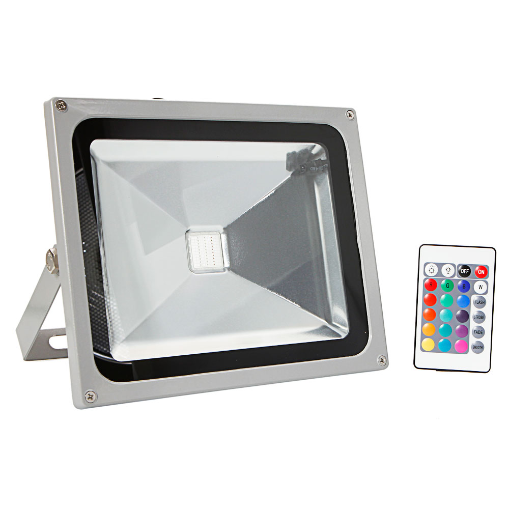 30W RGB LED Flood Light Outdoor Spotlight Lamp Waterproof