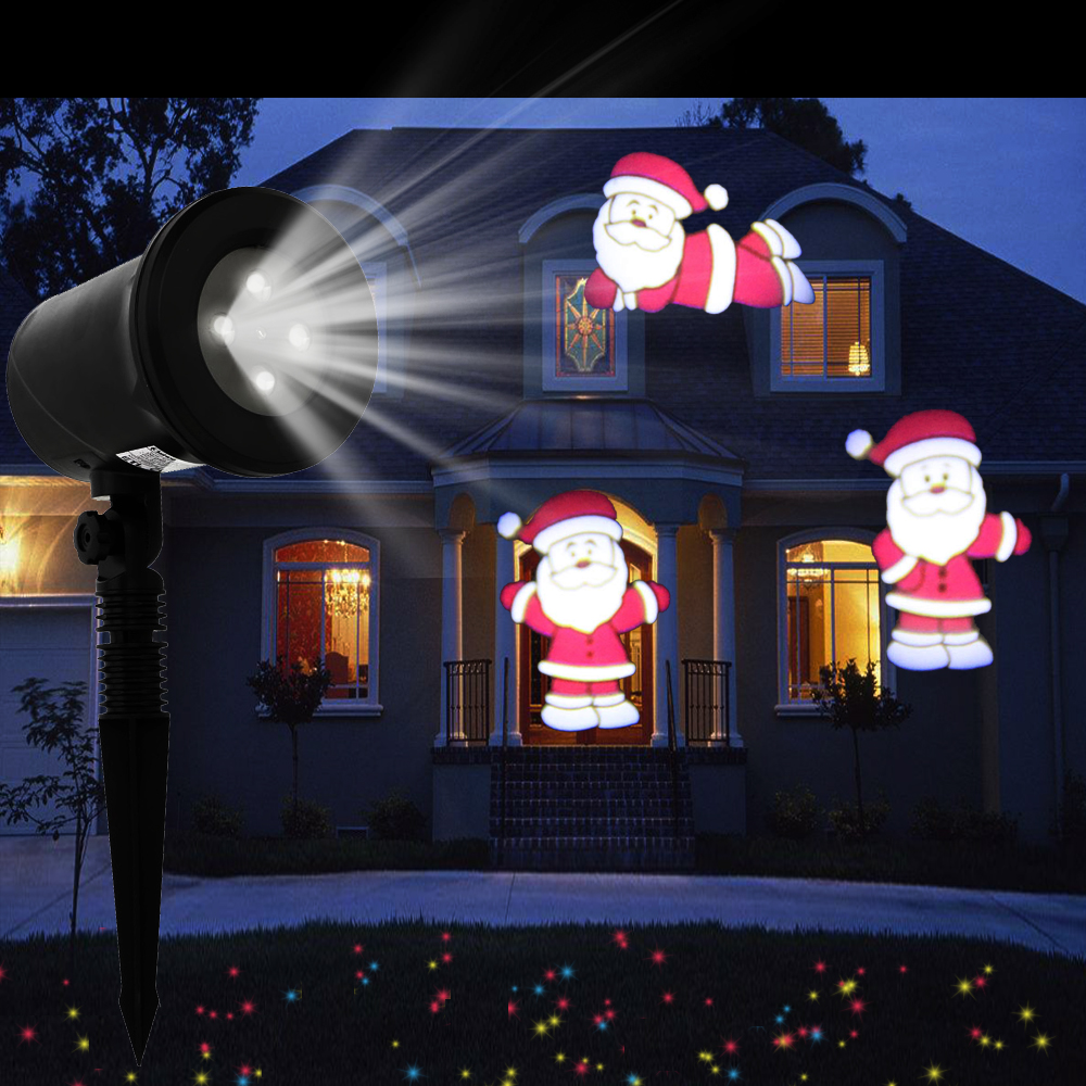 outdoor kshioe christmas led lights moving laser projector landscape xmas lamp