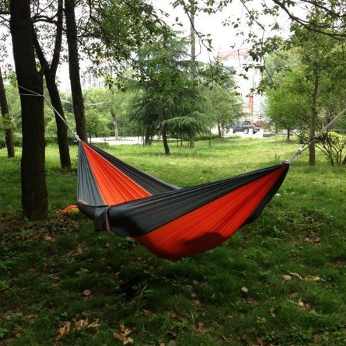 nylon tree single dp hammocks amazon straps com two people lightweight hammock aluminum camping for person adjustable carabiners parachute double loops multi with or