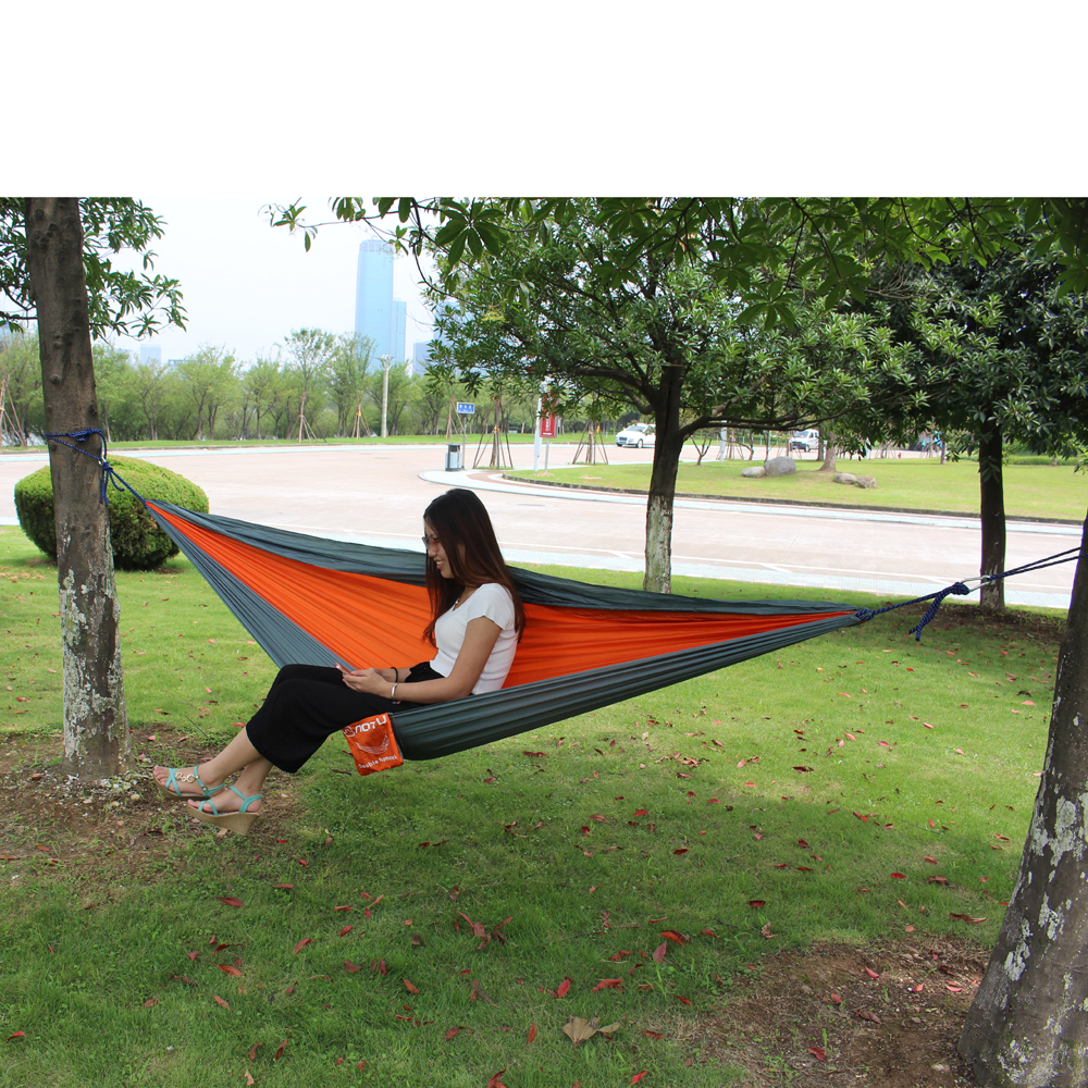 travel itm fabric camping two hammock trees double enjoy for portable ebay nylon parachute