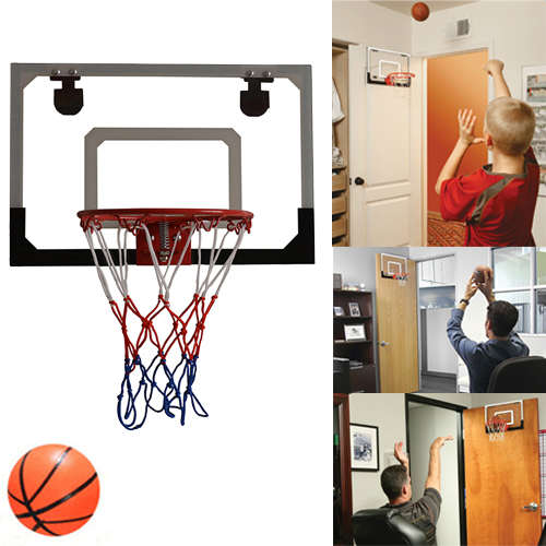 Mini Pro Basketball Indoor Hoop Door Kids Mount Sports With Ball ...