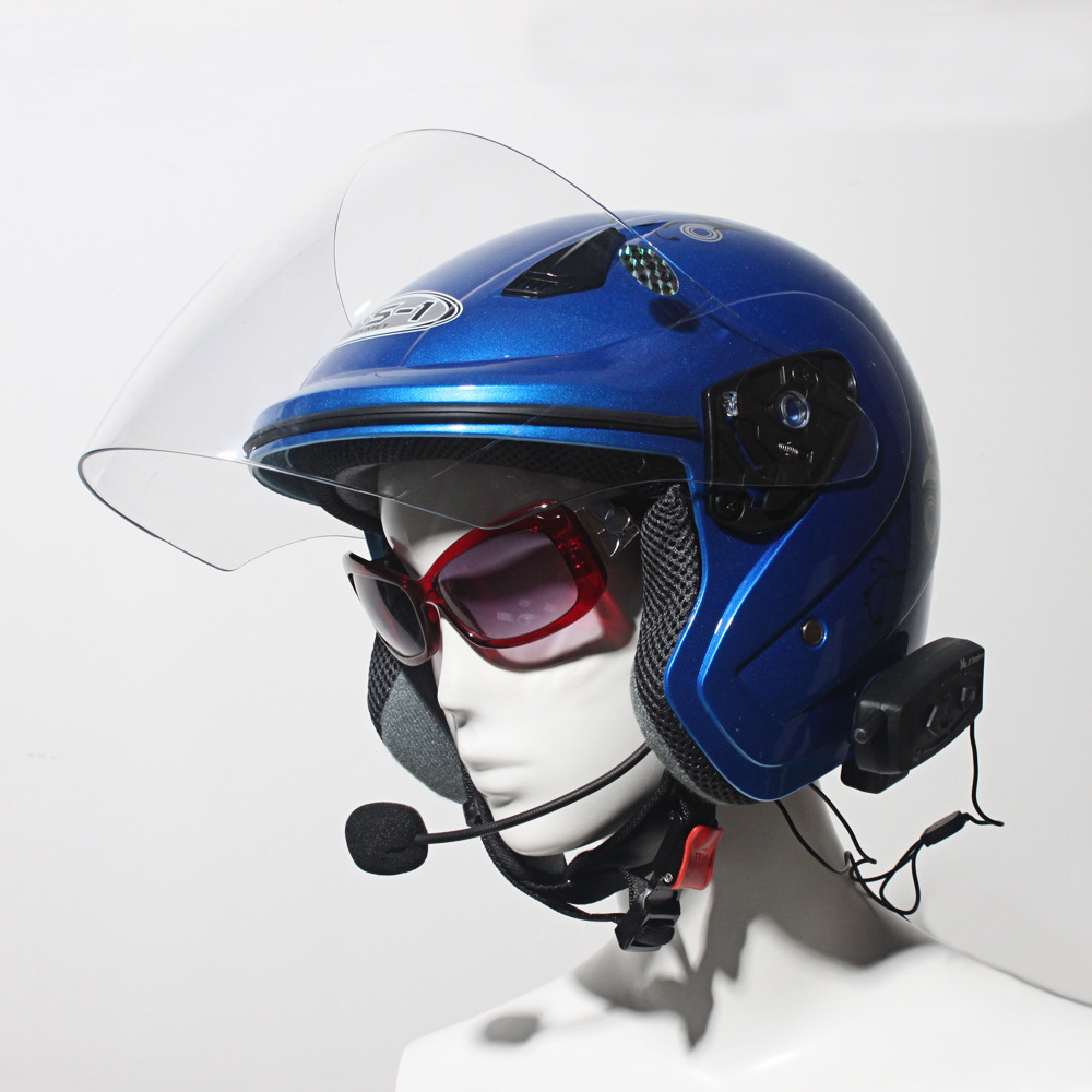 2 X BT 500M Motorcycle Interphone Bluetooth Motorbike Helmet Intercom Headset