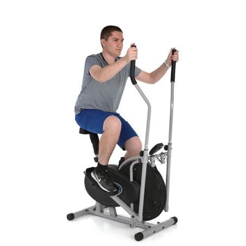 Elliptical Bike That Moves: 2 IN 1 Elliptical Fan Bike Cross Trainer Machine Exercise