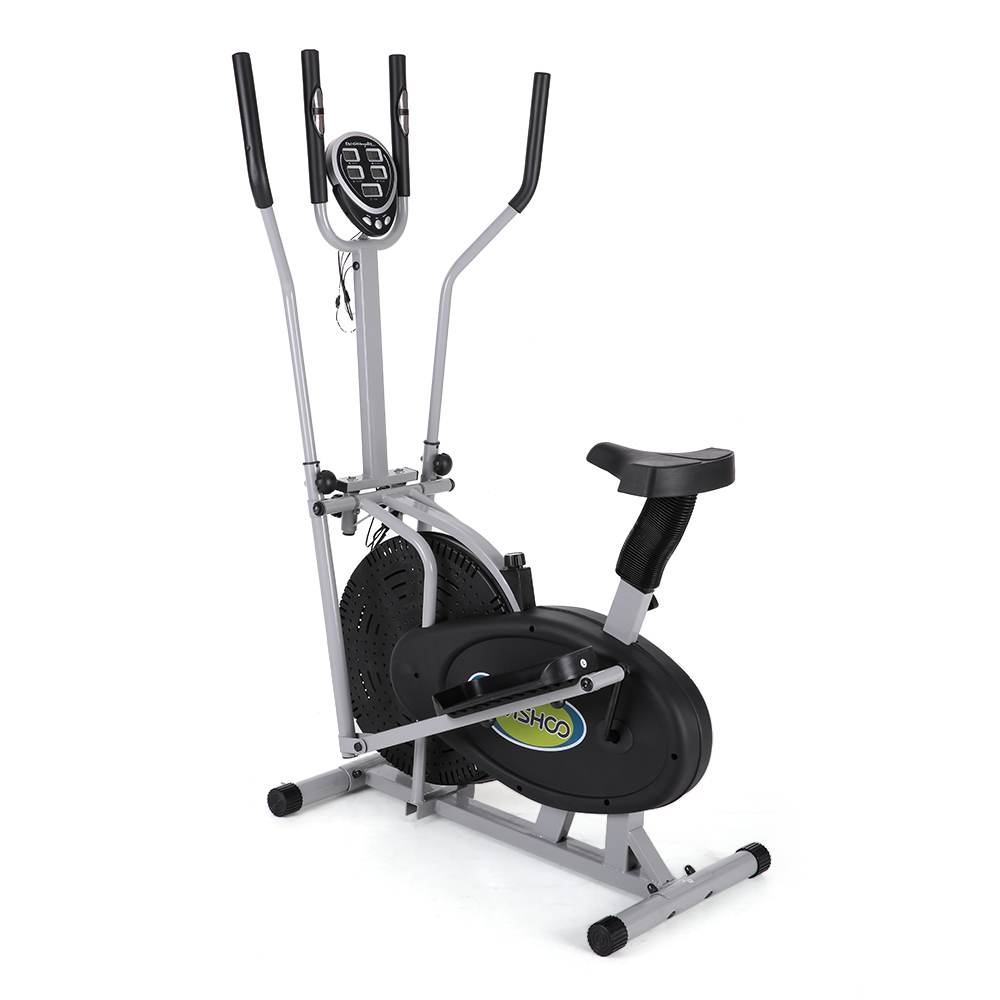 Elliptical Bike That Moves: Electric Magnetic Elliptical Trainer 2 In 1 Bike Exercise Fitness Machine Upgrad