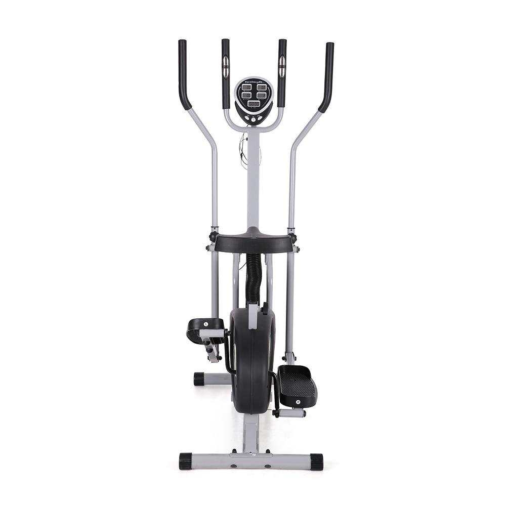 Elliptical Bike That Moves: Elliptical Bike Dual Cross Trainer Machine W/ Heart Rate