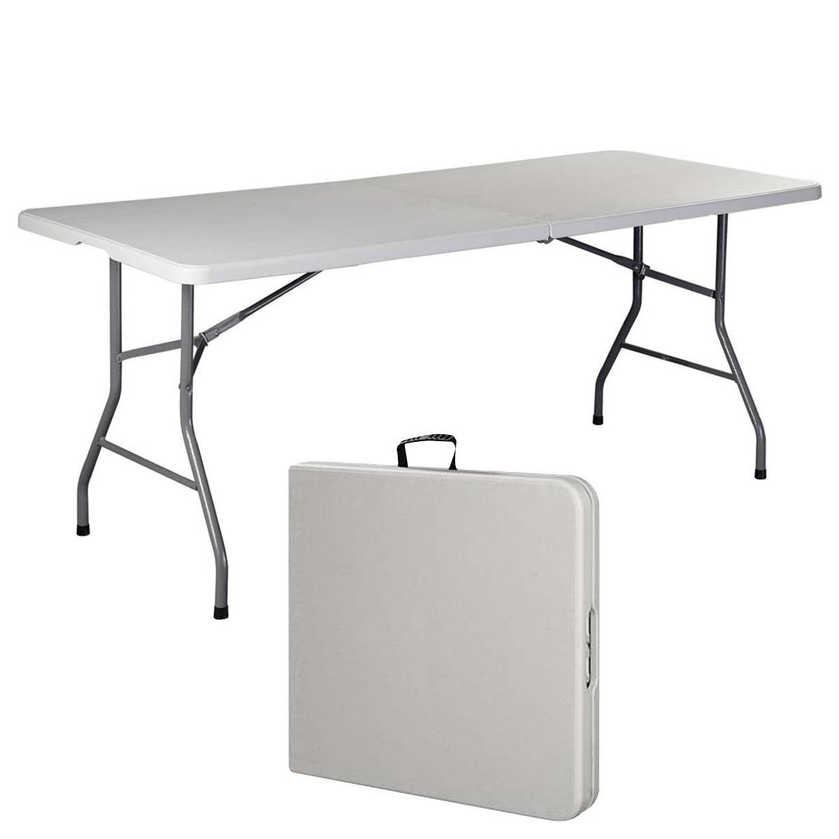 6' Folding Table Portable Plastic Indoor Outdoor Picnic ...
