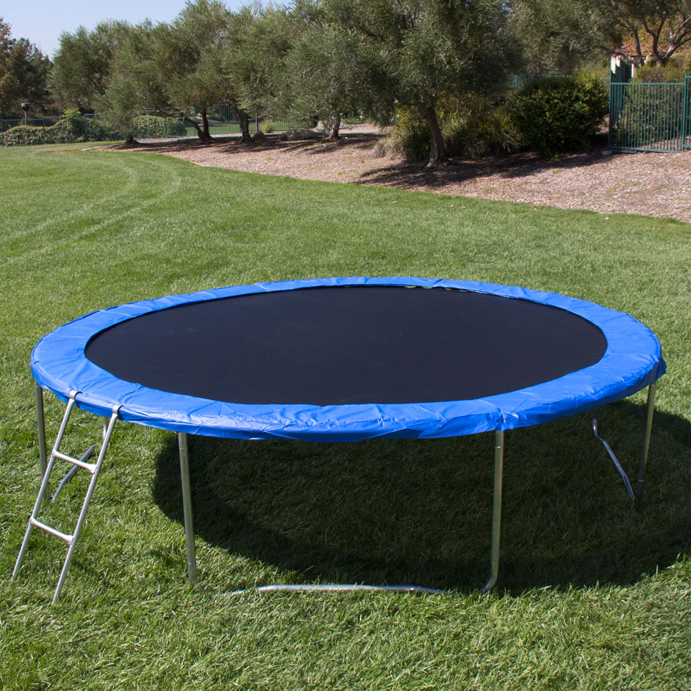 12' Round Trampoline Set With Safety Enclosure, Padding