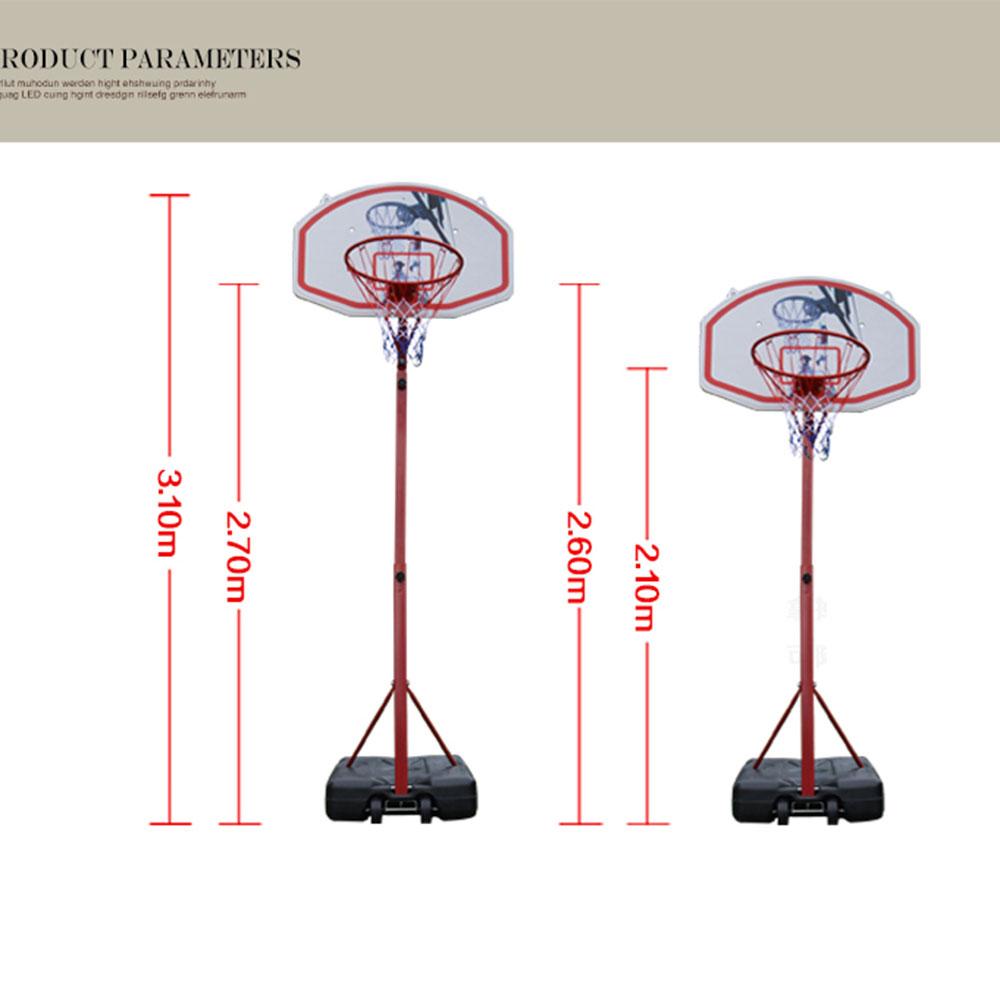 Adjustable 8.5FT Basketball Hoop System Stand Net Goal w ...