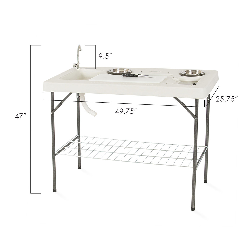 Coleman fish cleaning table re camping sink -  Fish Table Set Hunting Cleaning Cutting Camping Faucet Description