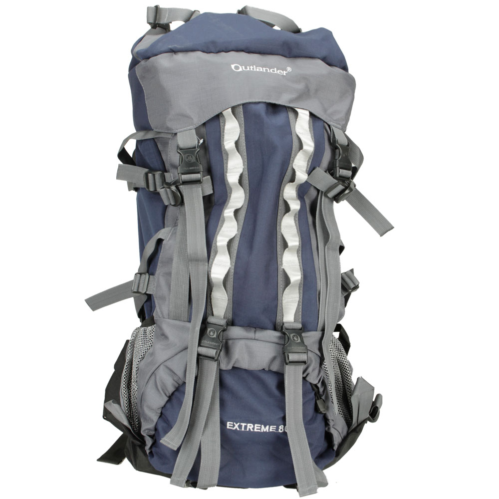 80L Professional Backpack Shoulders Bag Camping Hiking Blue#C4094 ...