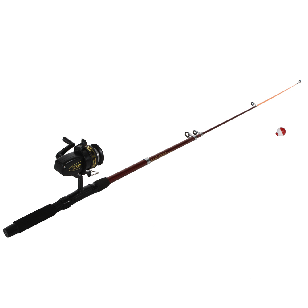 New portable fishing rod with fishing reels lines floats for Fishing line on reel