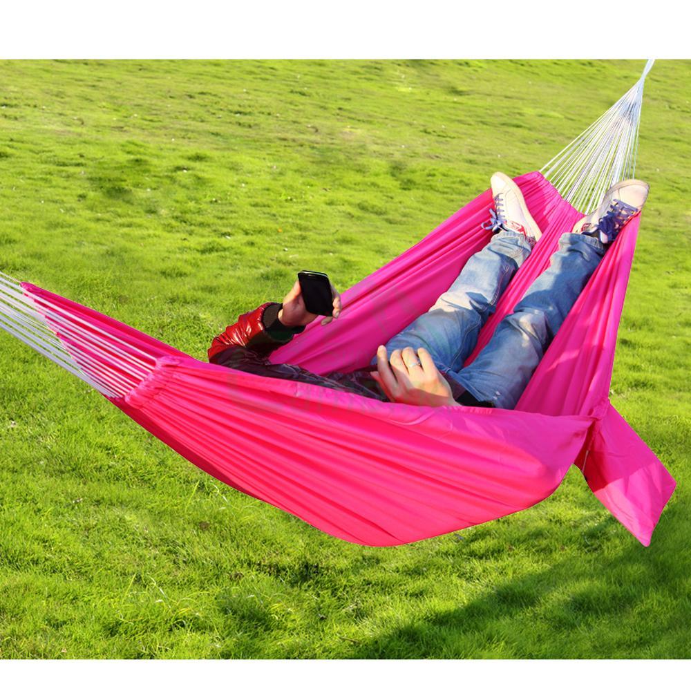 Travel camping outdoor parachute nylon fabric hammock for Fabric hammock chair swing