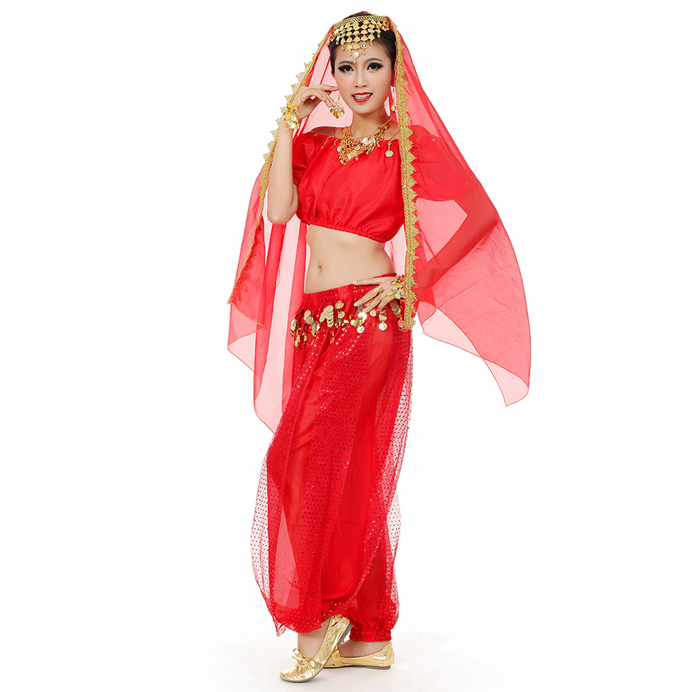 Womens New Belly Dance Costumes Set Indian Dancing Dress ...