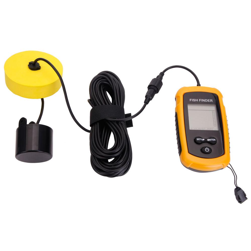 100m depth fish finder portable sonar sensor alarm for Fish finder transducer