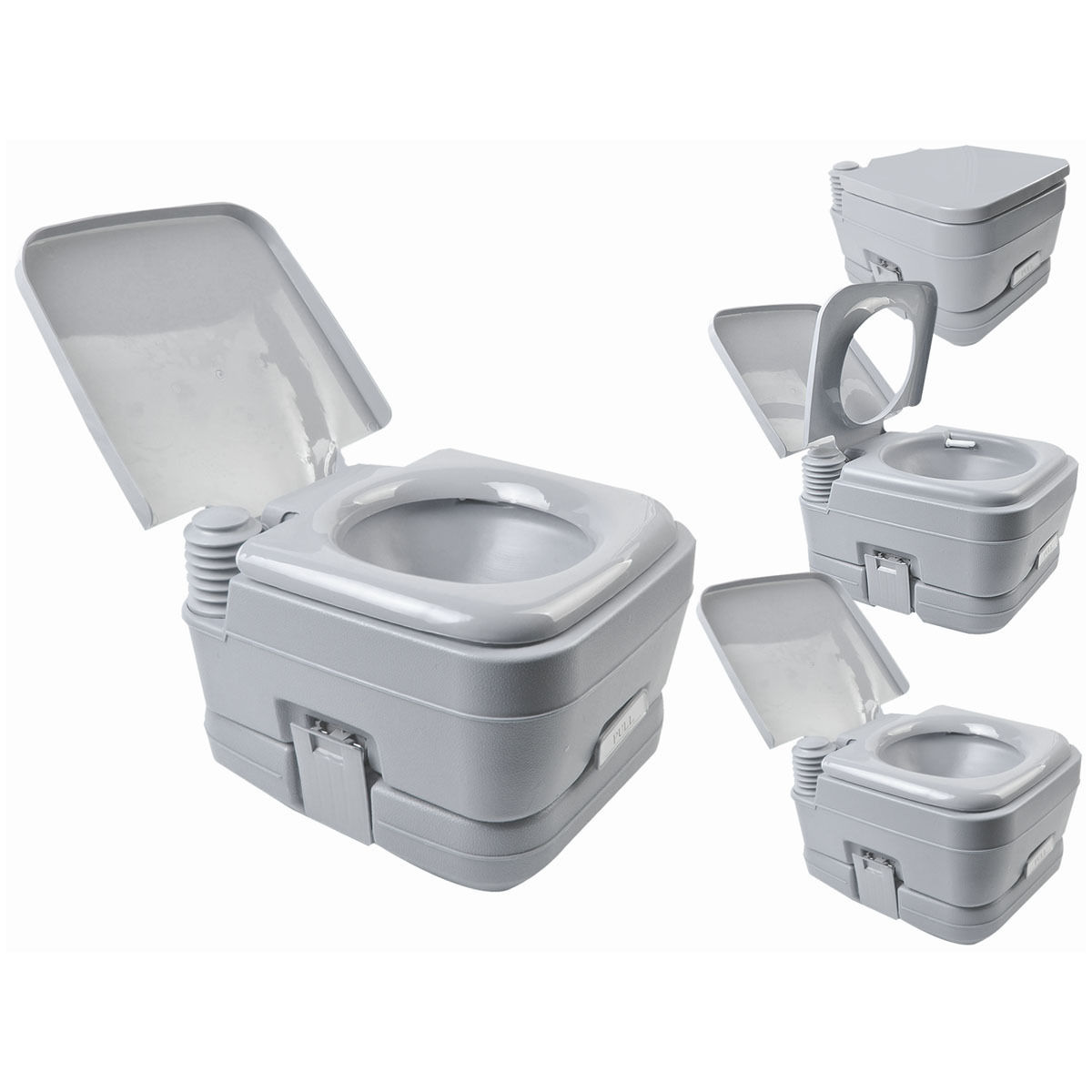 2 8 gallon 10l portable toilet travel camping hiking outdoor toilet potty flush ebay. Black Bedroom Furniture Sets. Home Design Ideas