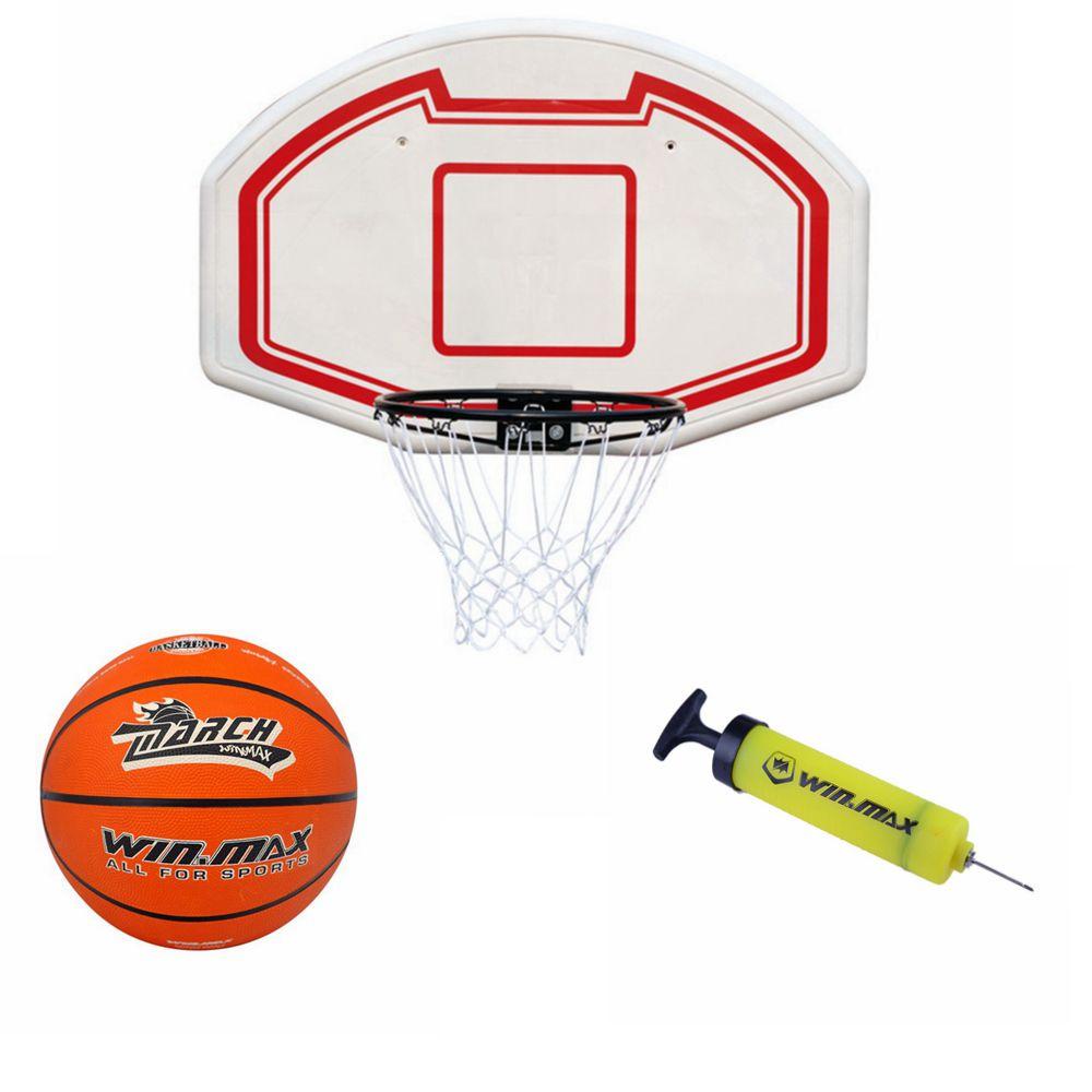 Winmax mini basketball indoor hoop wall door mount for Basketball hoop inside garage