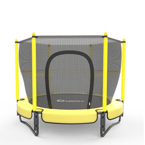 "60"" Round Kids Mini Trampoline W/ Enclosure Net Pad"