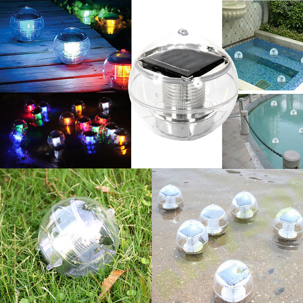 Solar 7 Color Changing Led Floating Ball Pond Pool Rgb